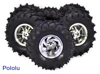 Dagu Wild Thumper 6WD all-terrain chassis wheels.