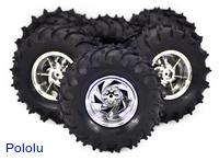 Dagu Wild Thumper 6WD all-terrain chassis wheels.
