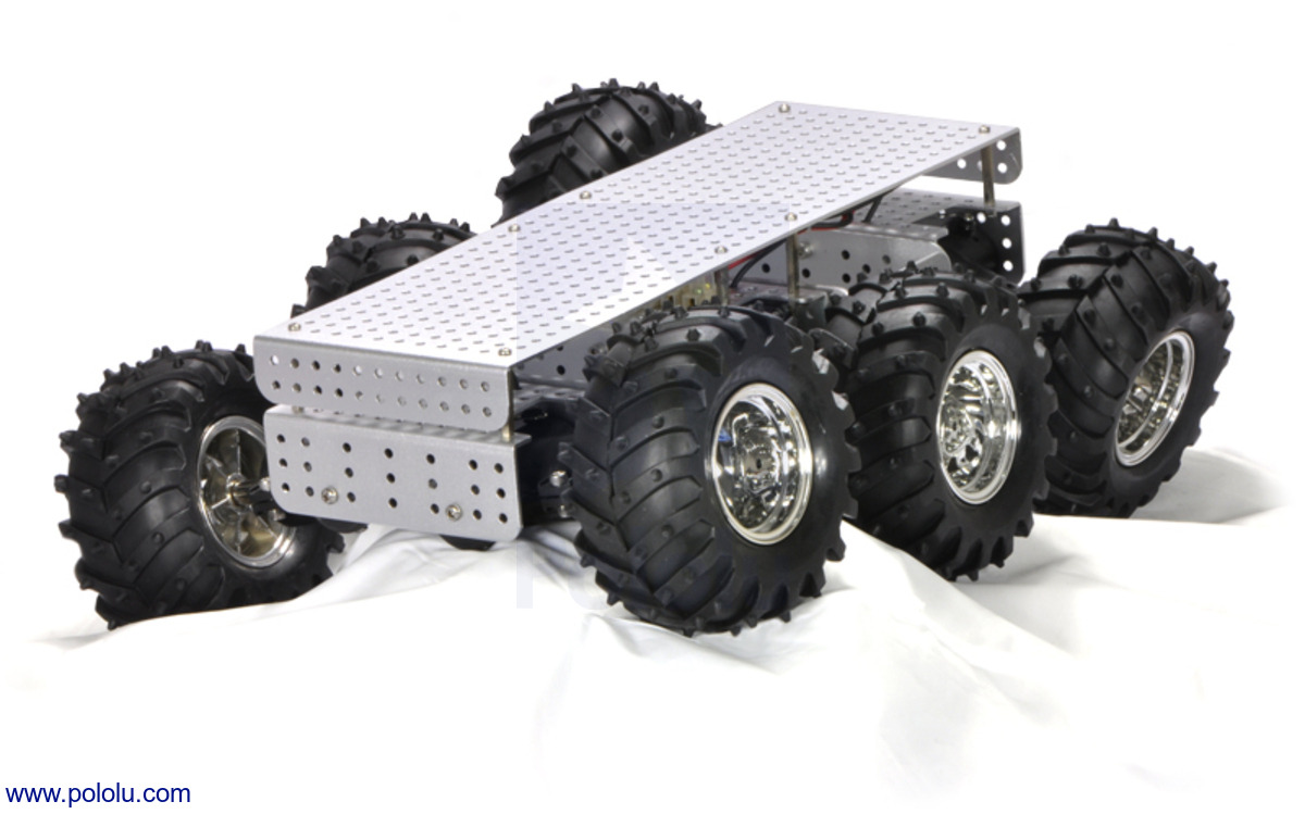 Pololu Dagu Wild Thumper 6wd All Terrain Chassis Silver 341 Linear Actuator Wiring Color Code New