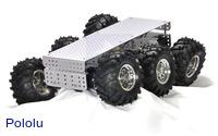 Dagu Wild Thumper 6WD all-terrain chassis, silver.
