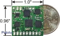 CHR-6dm AHRS IMU with US quarter for size reference.