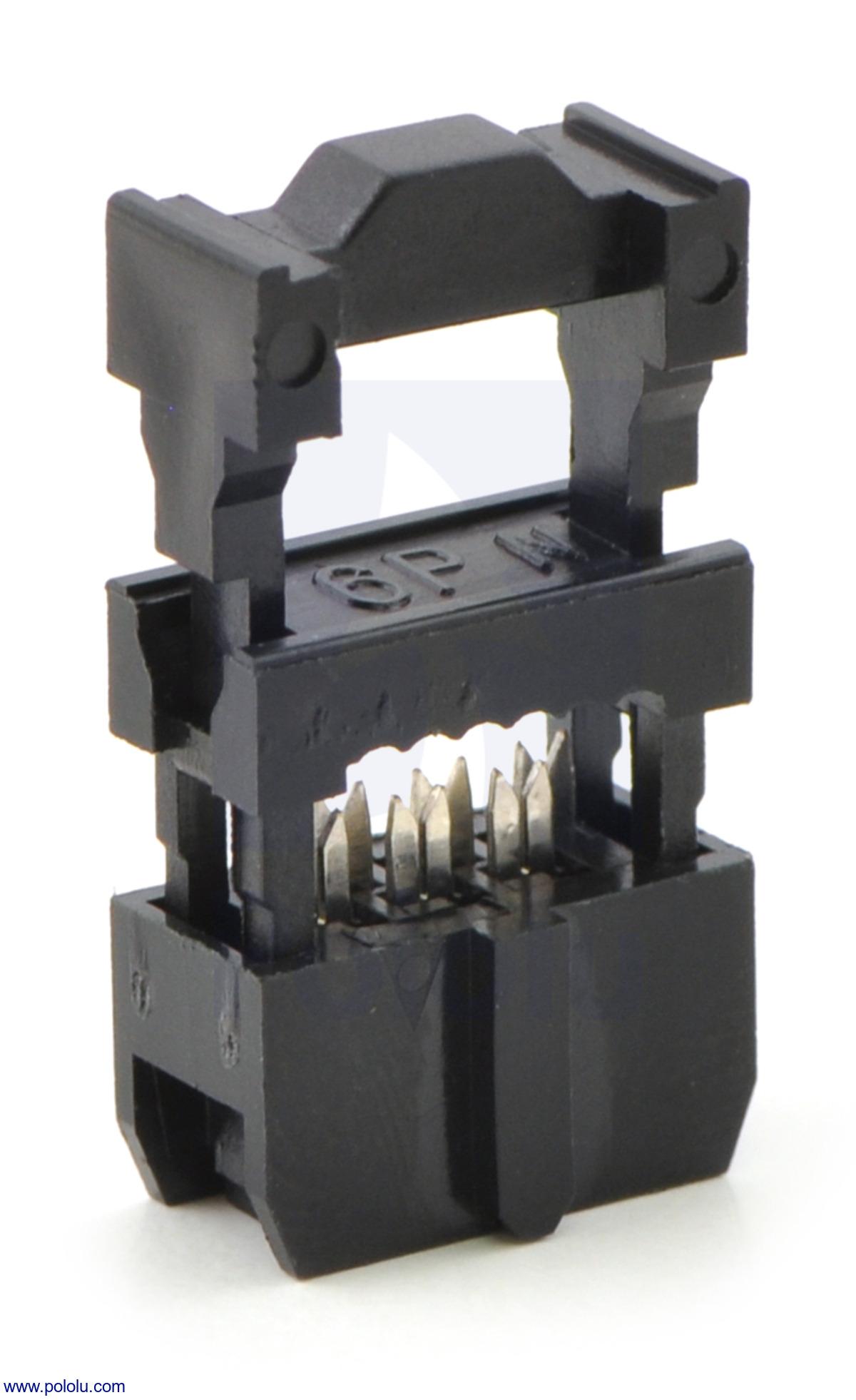 Idc Socket 2x3 Pin 0 100 Inches 2 54 Mm Female