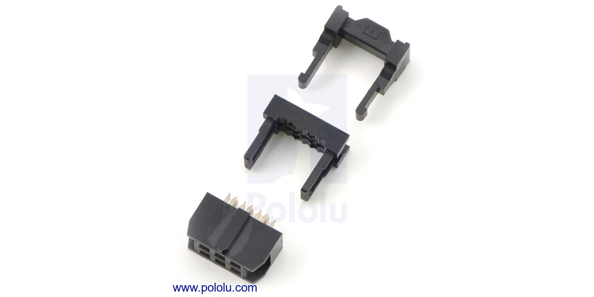 Pololu Idc Socket 2x3 Pin 0 100 Quot 2 54 Mm Female