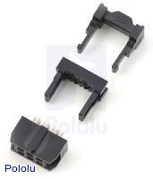 """IDC socket: 2x3-Pin, 0.100"""" (2.54 mm) Female"""