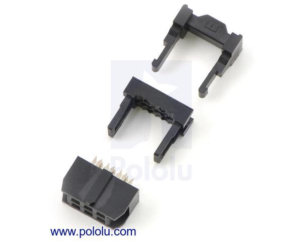 Pololu Idc Socket 2x3 Pin 0 100 Quot 2 54 Mm Female