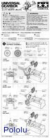 Instructions for Tamiya universal gearbox page 1.