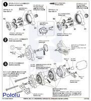 Instructions for Tamiya planetary gearbox page 2.