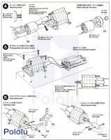 Instructions for Tamiya planetary gearbox page 3.