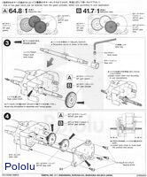Instructions for Tamiya high-power gearbox page 2.