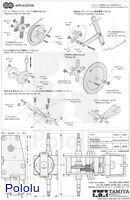 Instructions for Tamiya worm gearbox page 4.