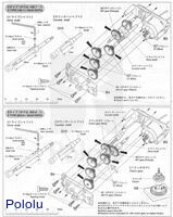 Instructions for Tamiya 6-speed gearbox page 4.