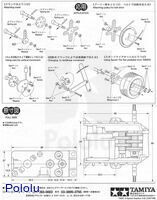 Instructions for Tamiya 6-speed gearbox page 6.