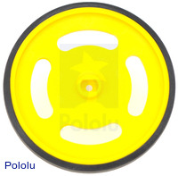 Solarbotics GMPW-Y Yellow Wheel