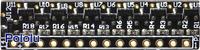 Elabguy LED-Rainbow-V1B 12-LED rainbow bar, bottom view.
