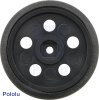 """Solarbotics GM10 1"""" Wheel Black"""