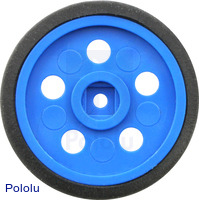 "Solarbotics GM10 1"" Wheel Blue"