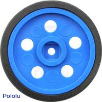 """Solarbotics GM10 1"""" Wheel Blue"""