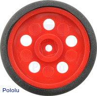 "Solarbotics GM10 1"" Wheel Red"
