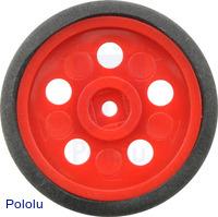 """Solarbotics GM10 1"""" Wheel Red"""