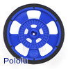 Solarbotics GMPW-LB BLUE Wheel with Encoder Stripes, Silicone Tire
