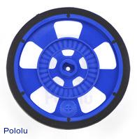 Solarbotics GMPW-LB BLUE Wheel with Encoder Stripes, Silicone Tire