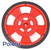 Solarbotics GMPW-R RED Wheel with Encoder Stripes, Silicone Tire