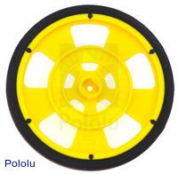 Solarbotics GMPW-Y YELLOW Wheel with Encoder Stripes, Silicone Tire