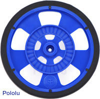 Solarbotics SW-LB BLUE Servo Wheel with Encoder Stripes, Silicone Tire
