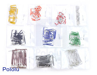 250-Piece Short Jumper Wire Kit without Case (wires up to 1-inch long)