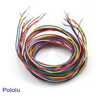 Wires with Pre-crimped Terminals 10-Piece Rainbow Assortment F-F 60""
