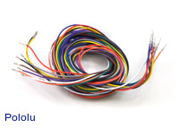 """Wires with Pre-crimped Terminals 10-Piece Rainbow Assortment M-F 60"""""""