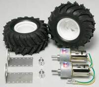 Tamiya 72102 Gear Head Motor + Pin Spike Tire Set.