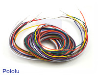 Wires with Pre-crimped Terminals 10-Piece Rainbow Assortment M-M 60""