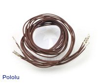 "Wires with Pre-crimped Terminals 5-Pack F-F 36"" Brown"