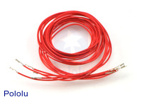 """Wires with Pre-crimped Terminals 5-Pack F-F 36"""" Red"""