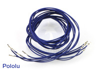 "Wires with Pre-crimped Terminals 5-Pack F-F 36"" Blue"