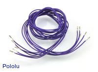 "Wires with Pre-crimped Terminals 5-Pack F-F 36"" Purple"