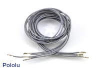 "Wires with Pre-crimped Terminals 5-Pack F-F 36"" Gray"