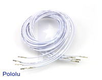 "Wires with Pre-crimped Terminals 5-Pack F-F 36"" White"