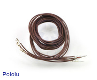"Wires with Pre-crimped Terminals 5-Pack M-F 36"" Brown"