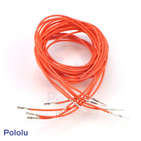 "Wires with Pre-crimped Terminals 5-Pack M-F 36"" Orange"