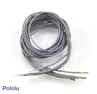"Wires with Pre-crimped Terminals 5-Pack M-F 36"" Gray"