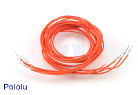 "Wires with Pre-crimped Terminals 5-Pack M-M 36"" Orange"