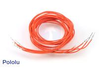 "Wires with Pre-crimped Terminals 5-Pack M-M 36"" Orange"