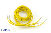 "Wires with Pre-crimped Terminals 5-Pack M-M 36"" Yellow"