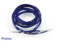 "Wires with Pre-crimped Terminals 5-Pack M-M 36"" Blue"