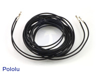 """Wires with Pre-crimped Terminals 2-Pack F-F 60"""" Black"""