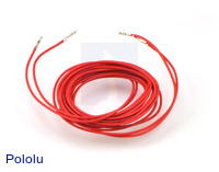 "Wires with Pre-crimped Terminals 2-Pack F-F 60"" Red"