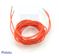 "Wires with Pre-crimped Terminals 2-Pack F-F 60"" Orange"