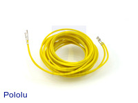 "Wires with Pre-crimped Terminals 2-Pack F-F 60"" Yellow"